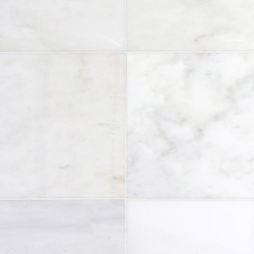 carrara white marble tile 18 x 18