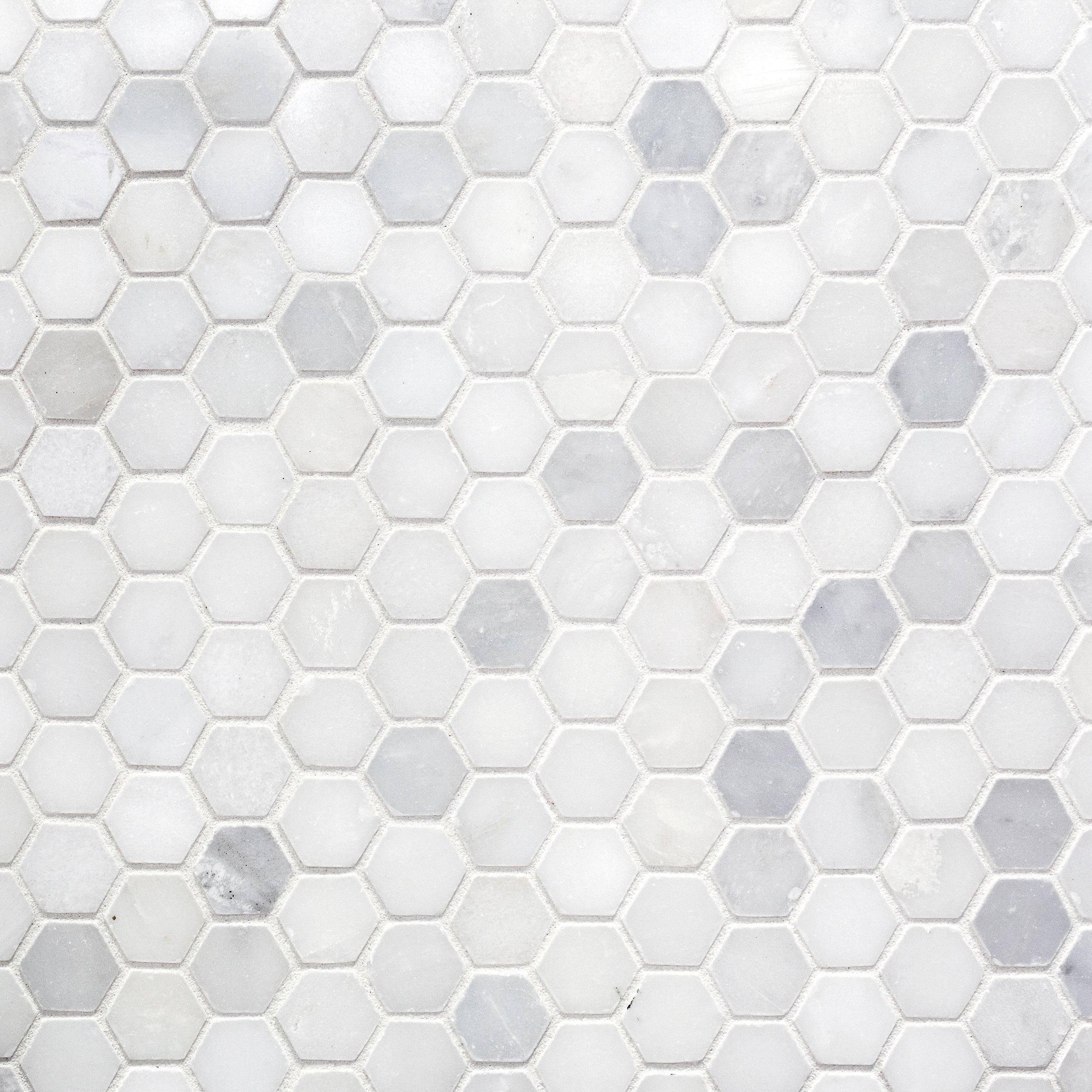 https www flooranddecor com ceramic tile marble art 1 5 in hexagon ceramic mosaic 100609205 html
