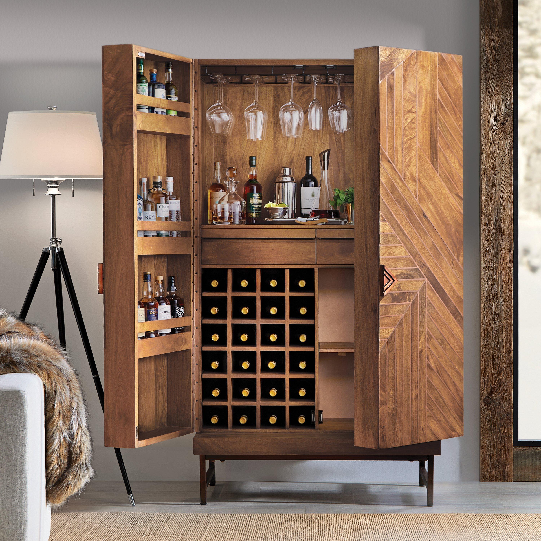 cheverny metal inlay bar cabinet