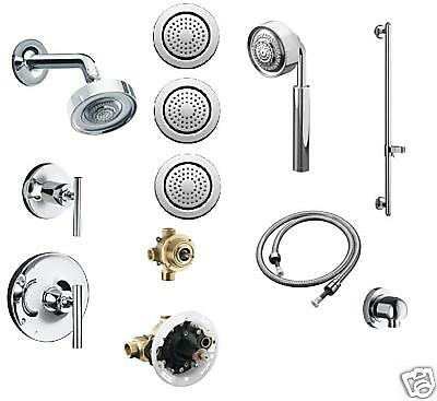 KOHLER PURIST CHROME ROUND WATERTILE BODY SPRAYS MULTI