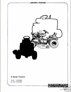 Wheel-Horse-Tractor-Owners-Manual-Models-A-90