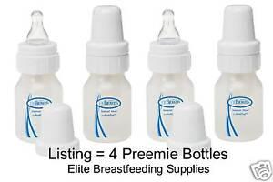 Dr Brown 039 s Preemie Baby Bottles 2oz x4 BPA Free 057