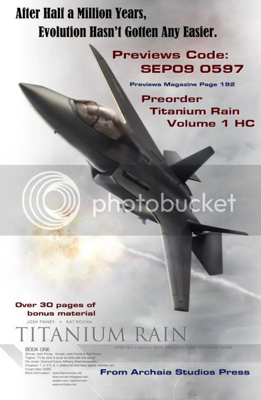 Titanium Rain Hard Cover in September Previews