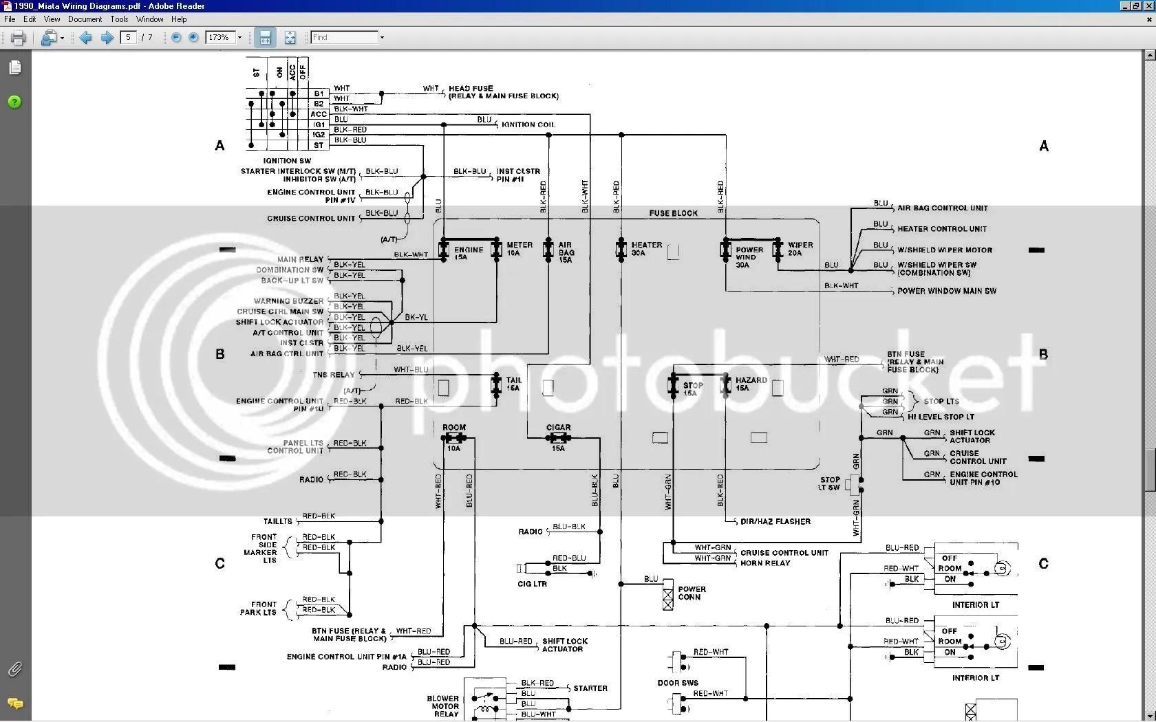 headlight motor wiring miata diagram receptacle mazda schematic mx5 lenght manual e