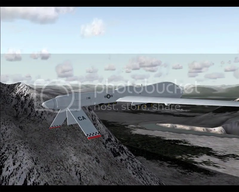 Vista del UAV Predator