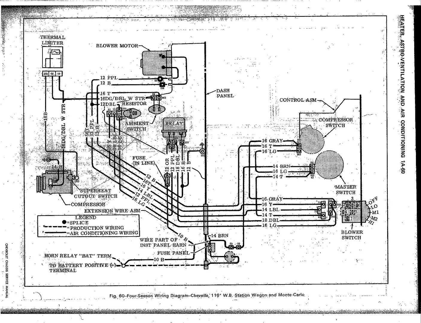 1972 chevelle ac wiring diagram generac 100 amp automatic transfer switch blower motor 72 39