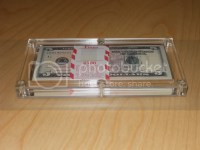 5 Money Holder Acrylic Frame Currency Dollar Display Cases ...