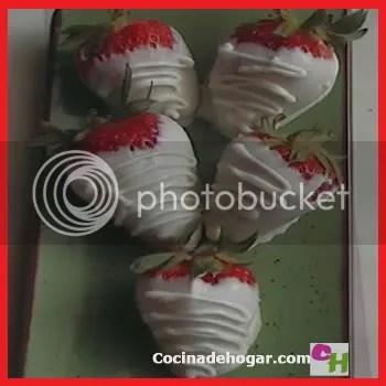 fresas en chocolate