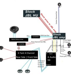 diagram how to replace the jbl system while keeping oem headunit toyota 2005 tundra radio wiring [ 1024 x 1024 Pixel ]