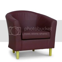 Purple Tub Chair Bucket Seat Plum Faux Leather Lounge and ...