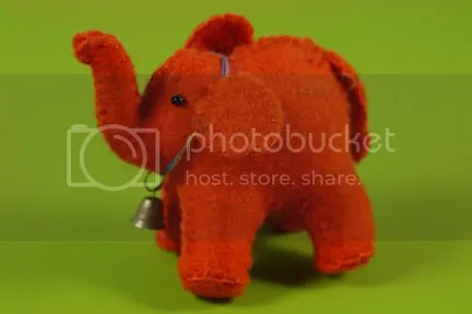 Little felt elephant made in Nepal