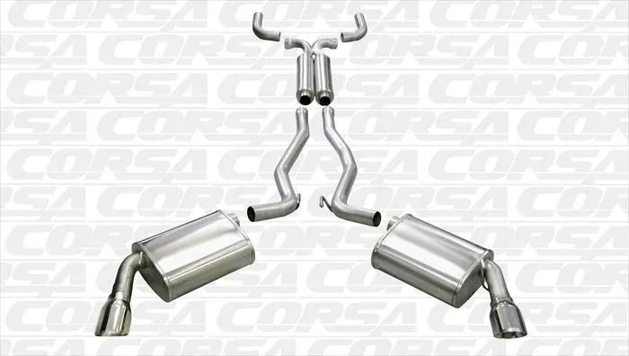 Corsa Cat-Back Exhaust #14953 :: 2010-2015 Camaro V6