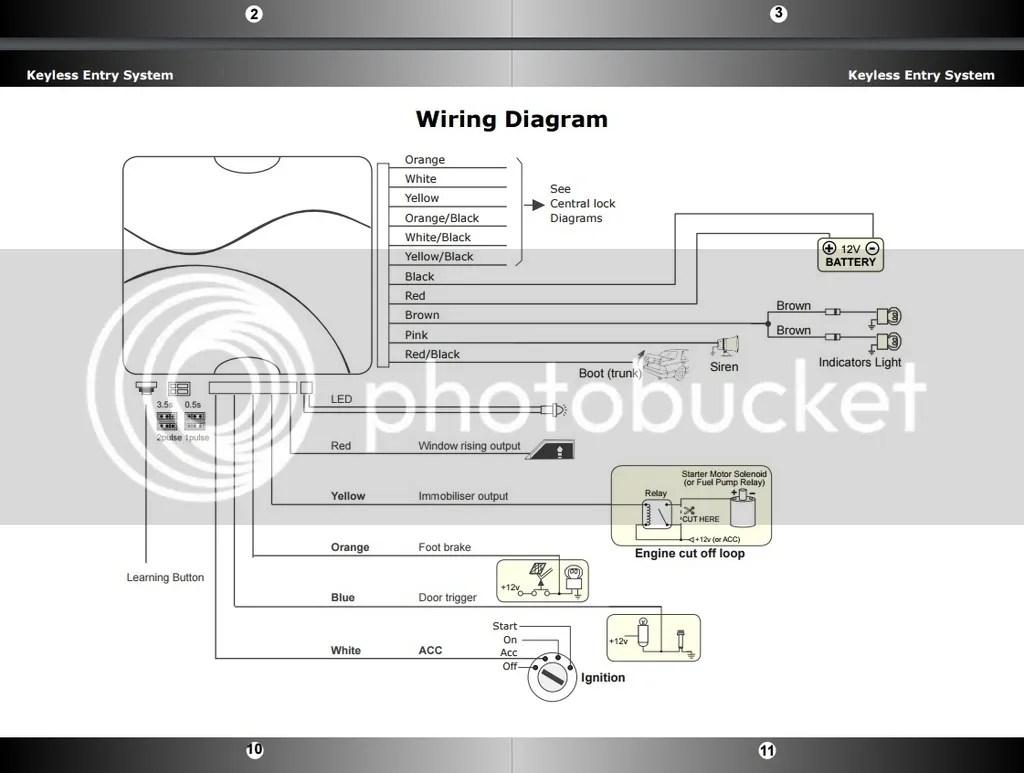 Remote Central Locking Wiring Diagram