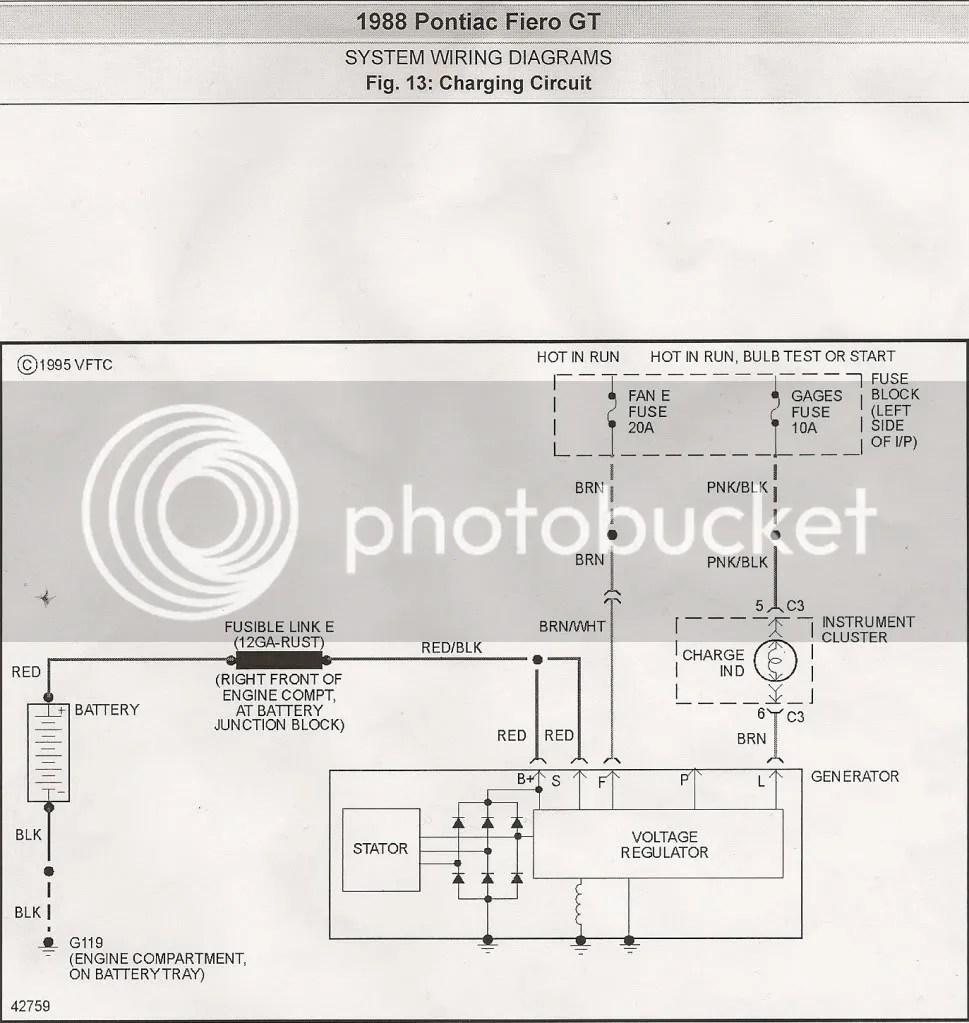 hight resolution of 88 fiero charging circuit