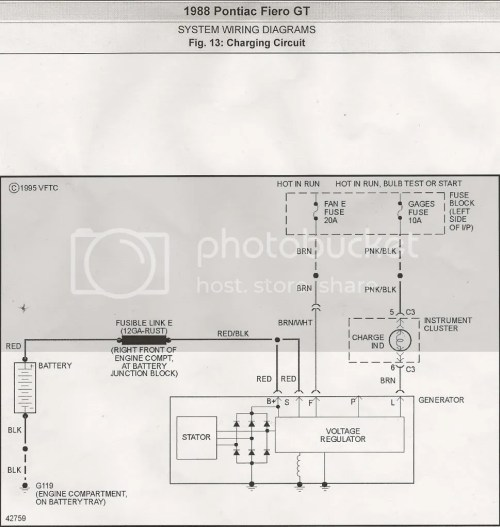 small resolution of 88 fiero charging circuit
