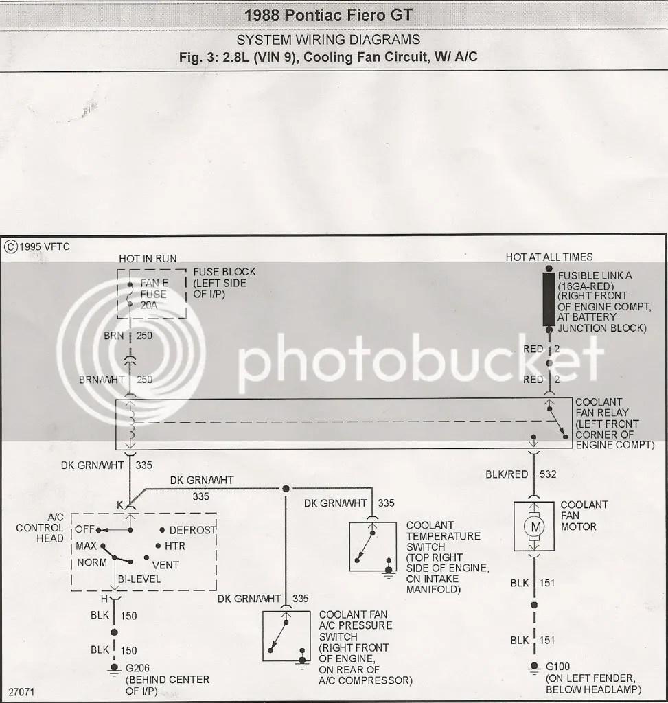 medium resolution of 88 fiero cooling fan circuit