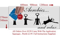 Funny Adult Wine Aerobics Wall Sticker Wall ART Decal Home ...