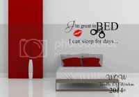 Great in Bed Funny Adult Bedroom Wall Sticker Wall Art ...