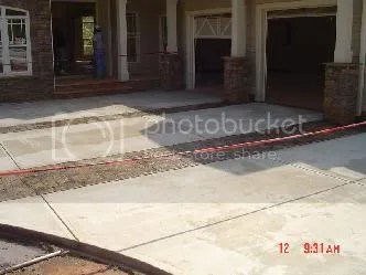 stained concrete overlay driveway