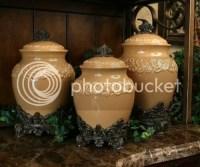 BUTTERSCOTCH CANISTER SET Kitchen TUSCAN Drake Design | eBay