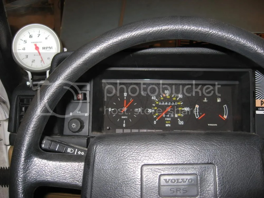 medium resolution of 89 240dl tachometer installation turbobricks forums volvo penta diesel tachometer wiring volvo tachometer wiring