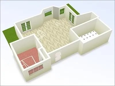 Another cool 3d room type app is Tim Knip's Floor Planner Using  Papervision3D