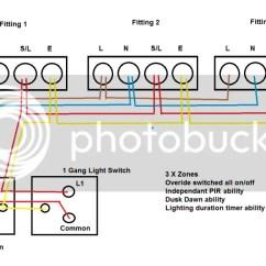 Outside Light Wiring Diagram Uk 2000 Jeep Grand Cherokee Radio Multiple Dusk Dawn Pir Security Lights - Question & Answer Board Talk Electrician Forum