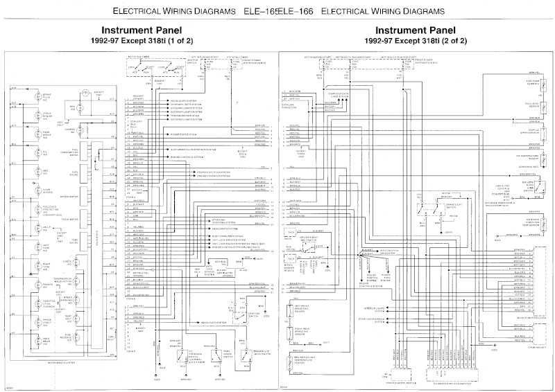 E36 Instrument Cluster Wiring Diagram : 37 Wiring Diagram
