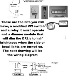 the above 3rd and best option im my opinion was to wire them as close to oem as possible this involves buying as stated above an electronic dimming module  [ 800 x 1000 Pixel ]