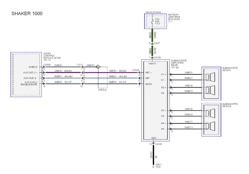 Shaker 500 Audio System Wiring Diagram For A Shaker 1000