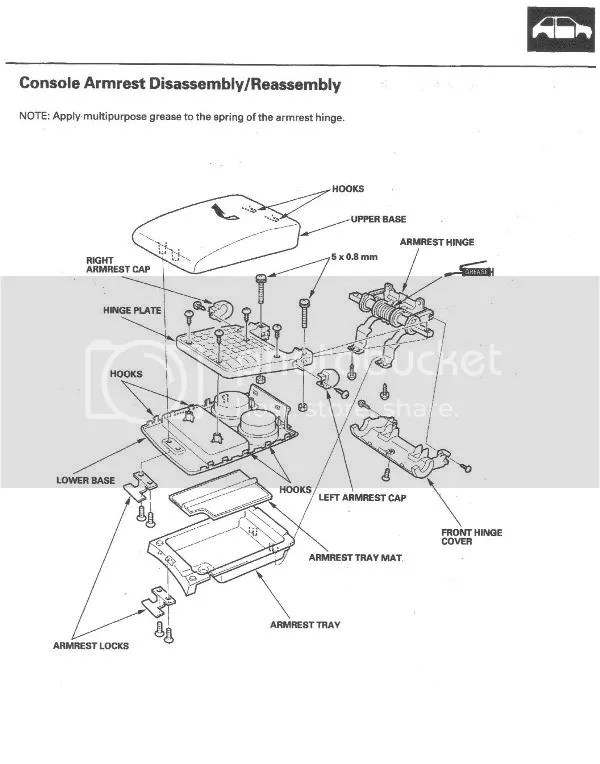 Service manual [2001 Acura Mdx Center Console Removal