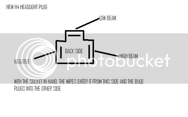 low beam headlight socket wiring diagram gm