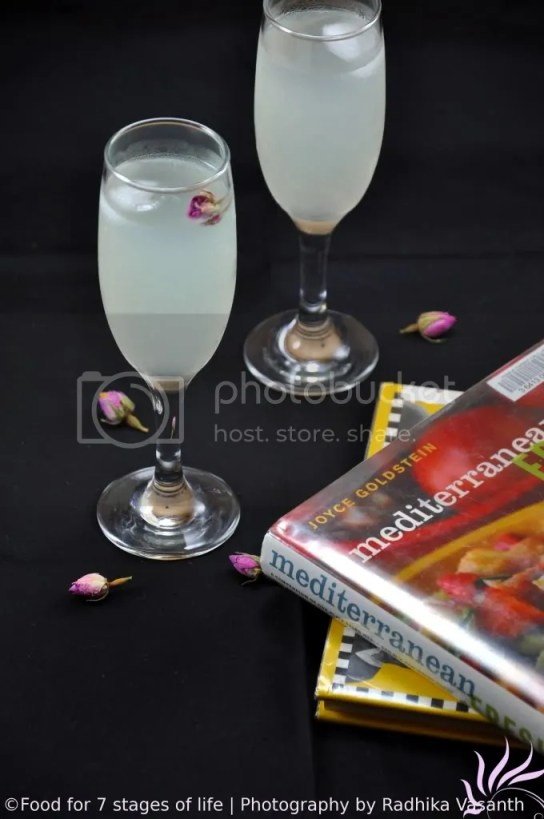 Rose Water Lemonade - A Mediterranean Classic
