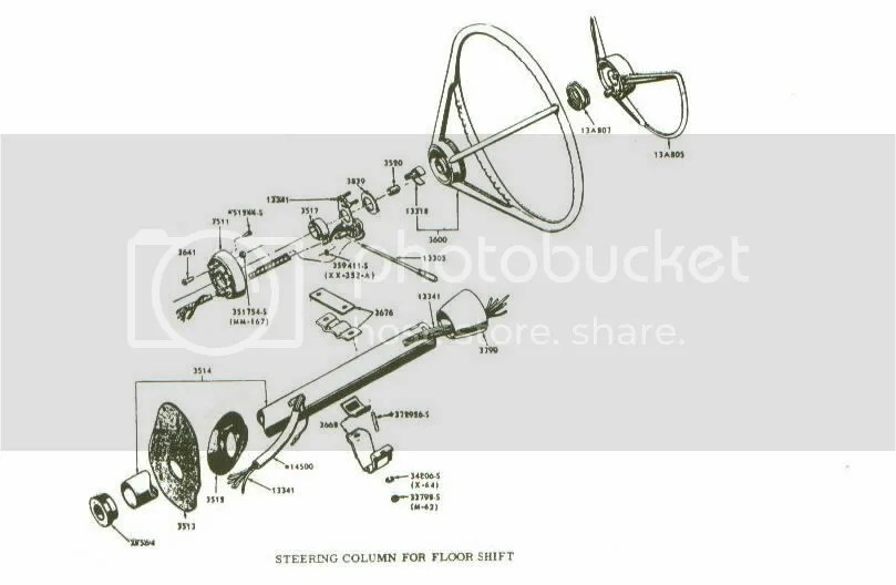 1963 Ford falcon steering column