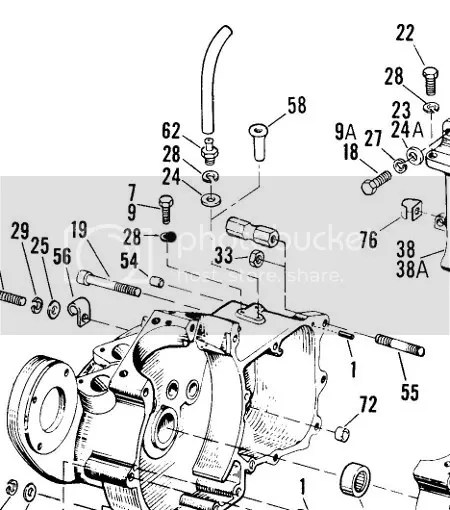 Ironhead 81 XLS crankcase breather/oiler fitting question