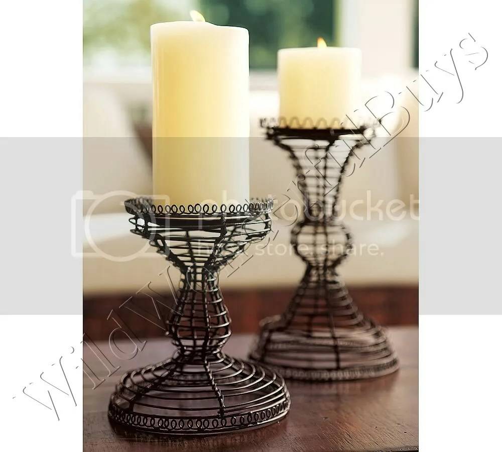 Pottery Barn Candle Holders