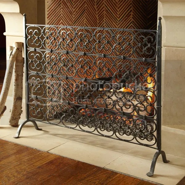Wrought Iron Fireplace Screens