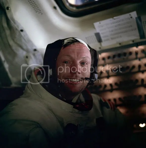 Neil Armstrong on Apollo 11 on the way to the Moon