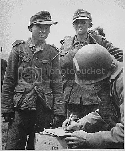 Captured German soldiers