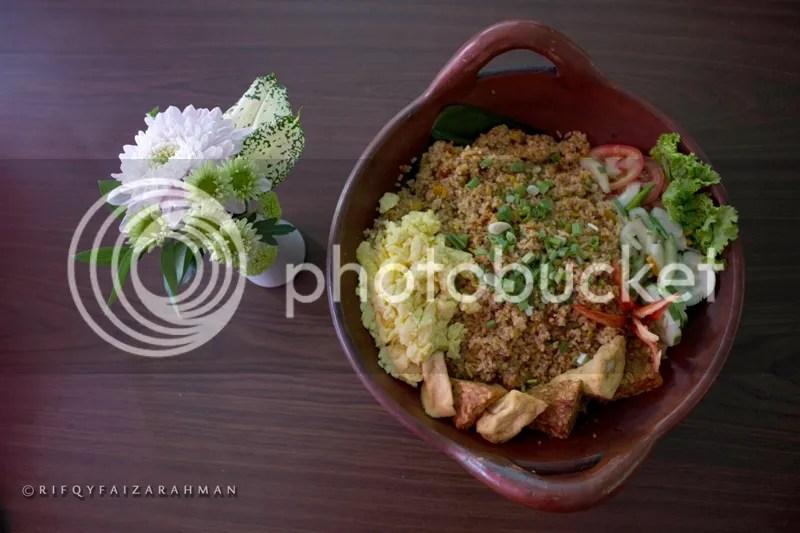 Potret Nasi Goreng Kimcil dari atas