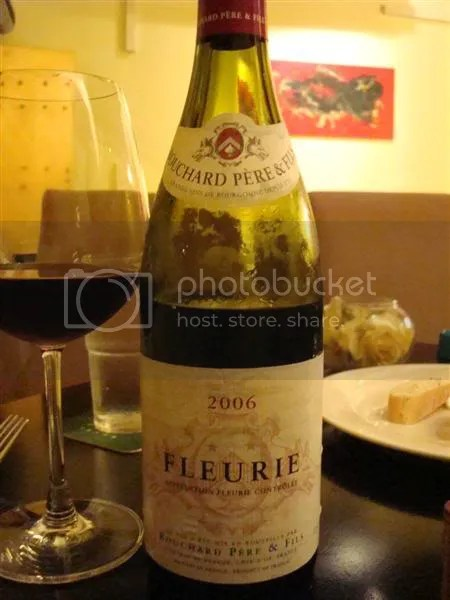 A bottle of French Burgundy