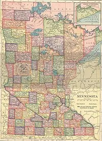 Map of Minnesota, c. 1910