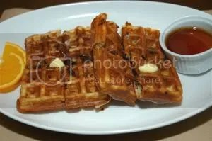 bacon waffles at zuzuni