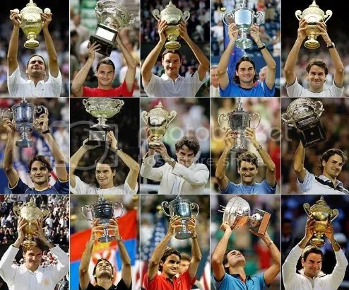 Roger Federer's 15 Grand Slam Titles