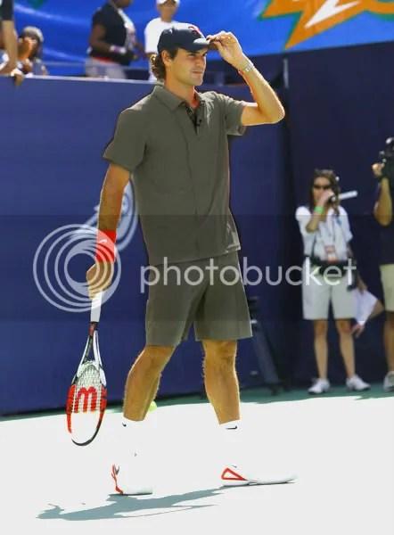 Roger Federer UPS guy look