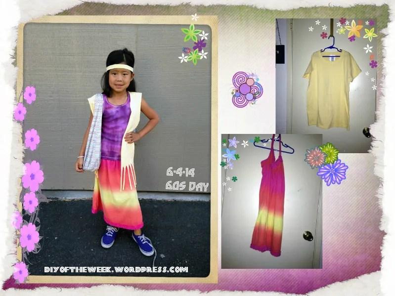 diy fringe vest, tshirt vest, 60s skirt