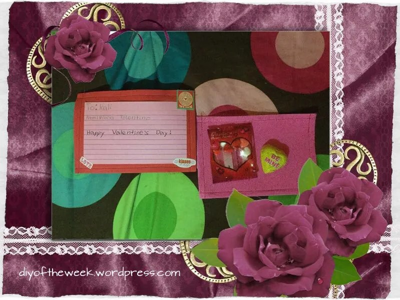 diy valentine postcard