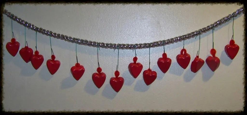 diy heart ornaments