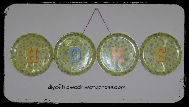 DIY Plate Decoupage