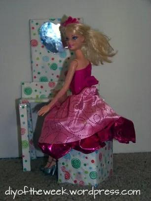diy barbie vanity